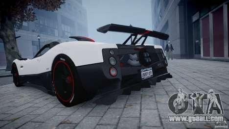 Pagani Zonda Cinque Roadster for GTA 4 back left view