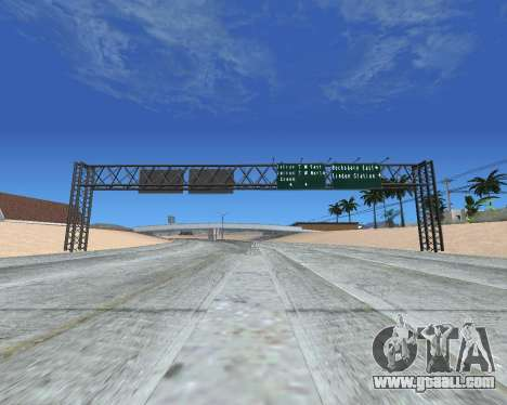 Road signs v1.2 for GTA San Andreas third screenshot