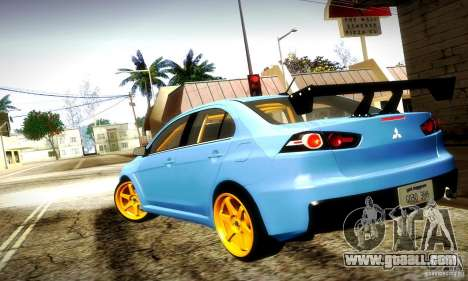 Mitsubishi Lancer Evo X Tuned for GTA San Andreas side view