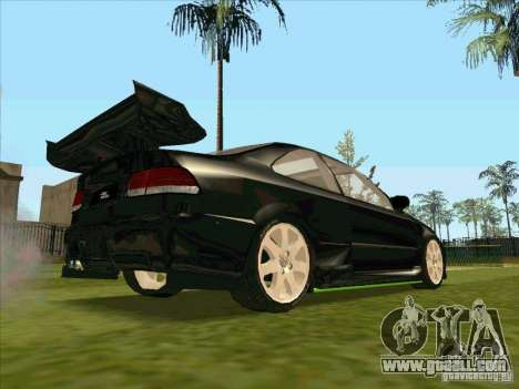 Honda Civic Coupe 1995 from FnF 1 for GTA San Andreas upper view
