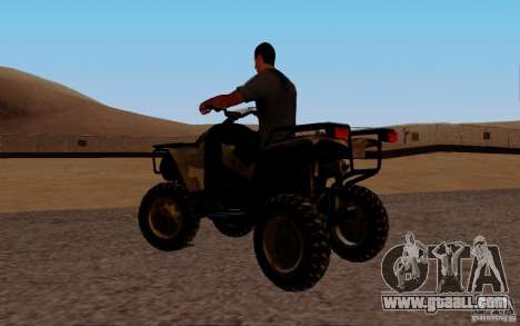 Quadbike from BF 3 for GTA San Andreas left view