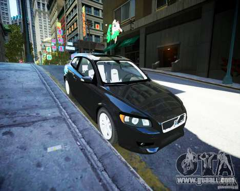 Volvo C30 2009 for GTA 4 back view