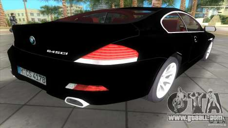 BMW 645Ci for GTA Vice City left view
