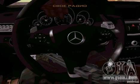 Mercedes-Benz E63 AMG for GTA San Andreas bottom view