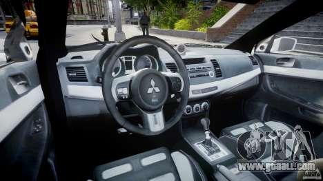 Mitsubishi Evolution X Police Car [ELS] for GTA 4 right view