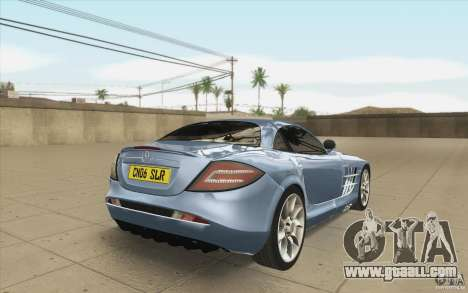 Mercedes-Benz SLR McLaren 2005 for GTA San Andreas side view
