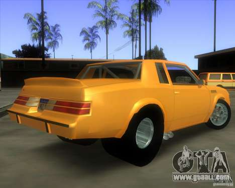 Buick GNX pro stock for GTA San Andreas left view