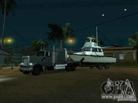 Trailer boats for GTA San Andreas left view