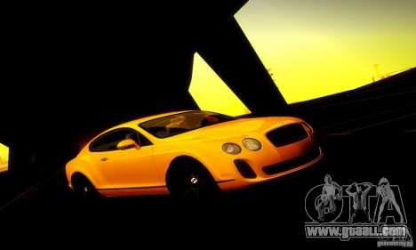 Bentley Continental Supersports for GTA San Andreas left view