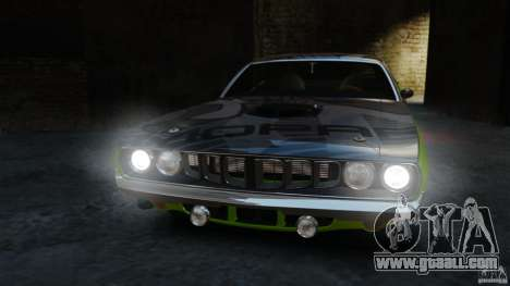 Plymouth Cuda 1971 for GTA 4 inner view