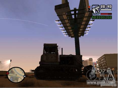Bulldozer T 130 for GTA San Andreas back left view