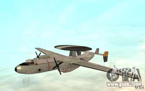 E-C2 Hawkeye for GTA San Andreas left view
