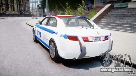 Carbon Motors E7 Concept Interceptor NYPD [ELS] for GTA 4 side view