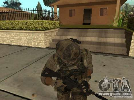 M4A1 with ACOG from CoD MW3 for GTA San Andreas forth screenshot
