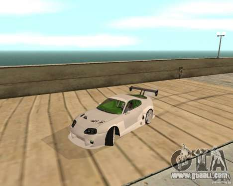 Toyota Supra TwinTurbo for GTA San Andreas back left view