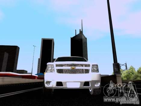 Chevrolet Tahoe LTZ 2013 for GTA San Andreas side view