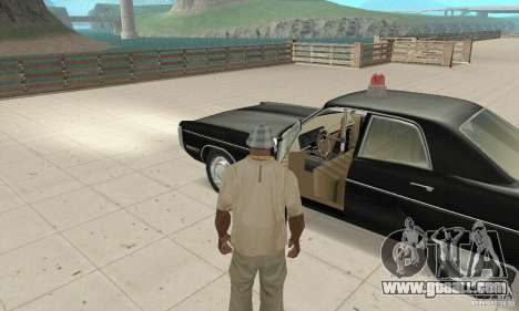 Plymouth Fury III Police for GTA San Andreas back view