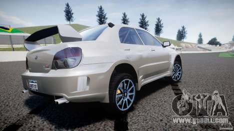 Subaru Impreza STI Wide Body for GTA 4 back left view