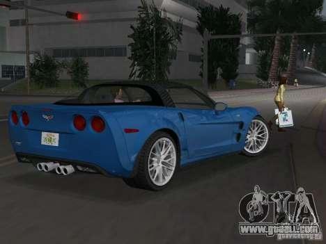 Chevrolet Corvette ZR1 for GTA Vice City back left view