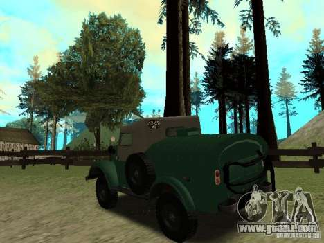 GAZ 69 APA 12 for GTA San Andreas back left view