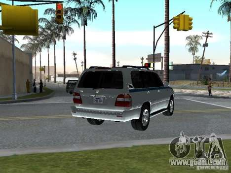 Toyota Land Cruiser 100 VX for GTA San Andreas back left view