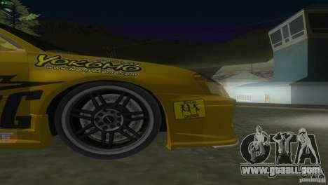 Subaru Impreza WRX No Fear for GTA San Andreas inner view
