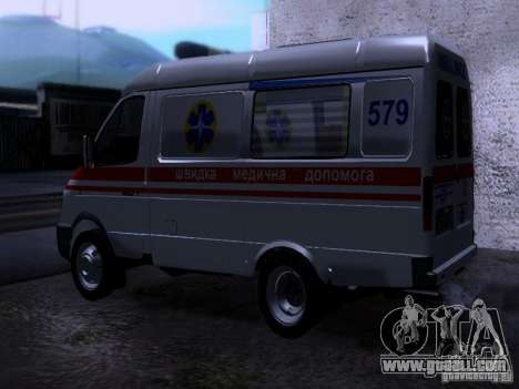 Gazelle 2705 ambulance for GTA San Andreas left view