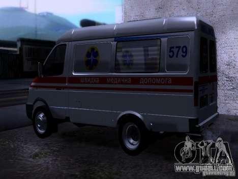 Gazelle 2705 ambulance for GTA San Andreas left view