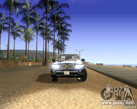 BMW X5 4.8 IS for GTA San Andreas back left view