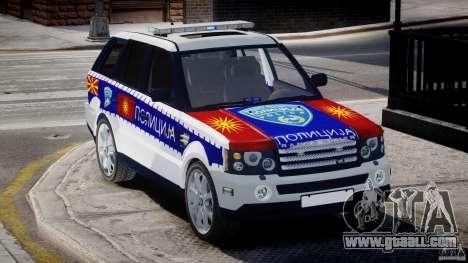 Range Rover Macedonian Police [ELS] for GTA 4 inner view