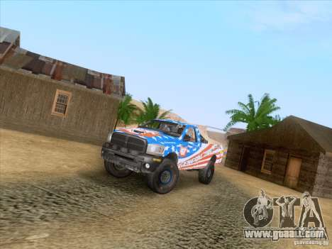 Dodge Ram Trophy Truck for GTA San Andreas inner view