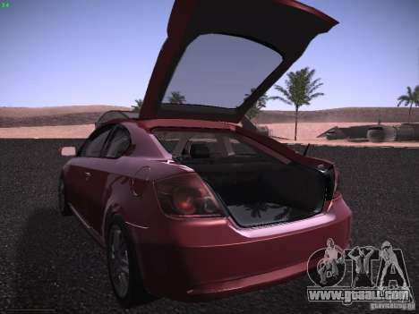 Scion tC for GTA San Andreas upper view