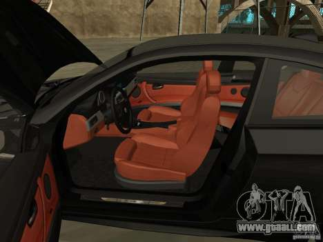 BMW M3 E92 Tunable for GTA San Andreas back view