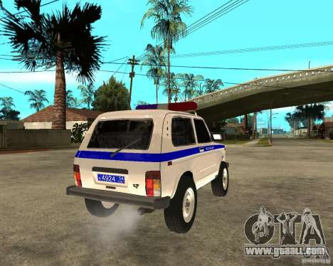 VAZ 2121 Police for GTA San Andreas back left view