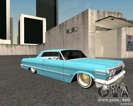 Chevrolet Impala 1963 lowrider for GTA San Andreas right view