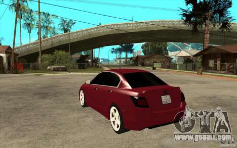 Honda Accord 2008 v2 for GTA San Andreas back left view
