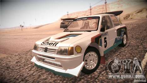 Peugeot 205 T16 for GTA San Andreas left view