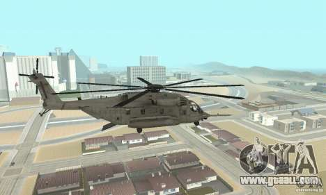 Sikorsky MH-53 for GTA San Andreas left view