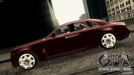 Rolls-Royce Ghost 2010 V1.0 for GTA San Andreas left view