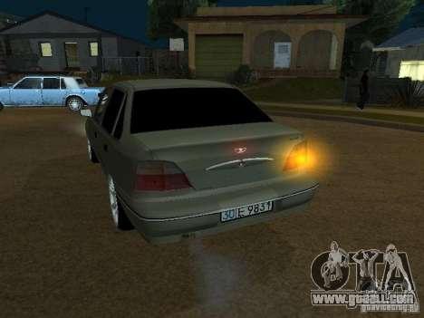 Daewoo Nexia for GTA San Andreas inner view
