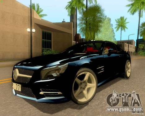 Mercedes-Benz SL350 2013 for GTA San Andreas inner view