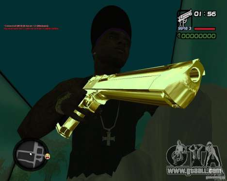 Desert Eagle GOLD for GTA San Andreas