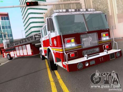 Seagrave Tiller Truck for GTA San Andreas