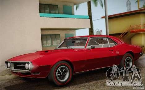 Pontiac Firebird 400 (2337) 1968 for GTA San Andreas interior