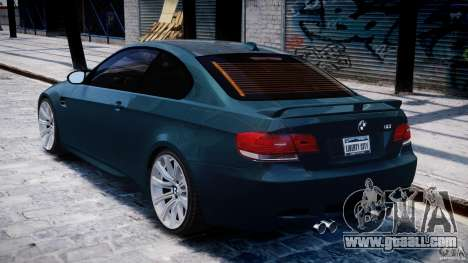 BMW M3 E92 stock for GTA 4 right view