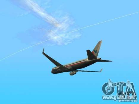 Boeing 767-300 American Airlines for GTA San Andreas right view