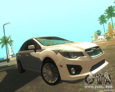 Subaru Impreza Sedan 2012 for GTA San Andreas left view
