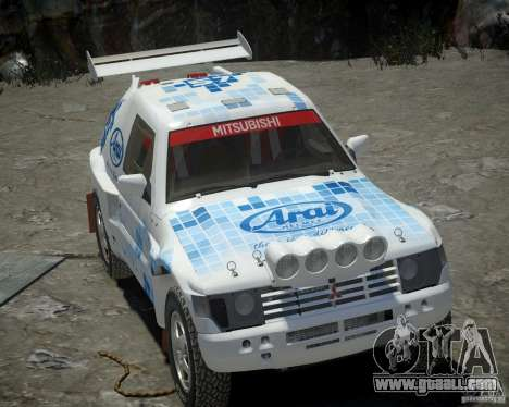Mitsubishi Pajero Proto Dakar EK86 vinyl 3 for GTA 4 side view