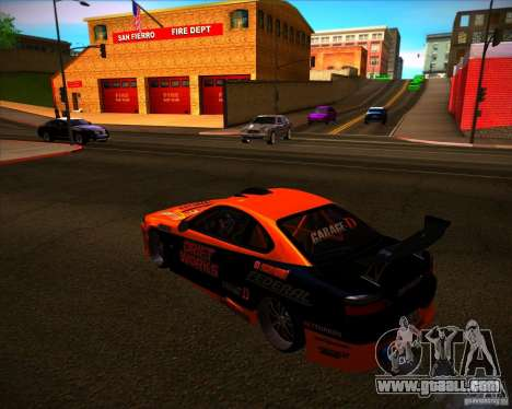 Nissan Silvia S15 Drift Works for GTA San Andreas back left view