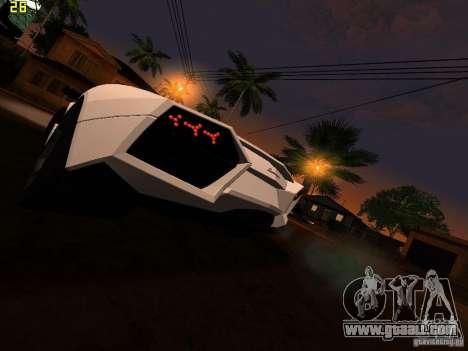 Lamborghini Reventon Roadster for GTA San Andreas back left view